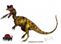 Jp expanded dilophosaurus wetherilli by teratophoneus-d5xleqr