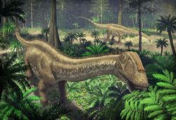 Apatosaurus scene