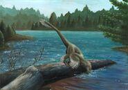 Sinornithosaurus аrt of Emily Willoughby
