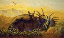 Kazuhiko Sano paleoart Styracosaurus