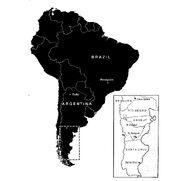 Titanosaurus localities – South America.