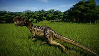 Дилофозавр в игре Jurassic World Evolution