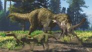 Yutyrannus beipiaosaurus psittacosaurus by paleoguy-dceu7ai
