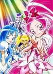 Heartcatch Pretty Cure! Official art of the four Cures