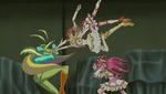 Rin and Urara punching Grinmma