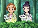 Saki and Mai with Mascots puppets