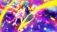 Cure Star realiza el ataque Puño Estelar Pretty Cure