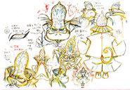 Bocetos de las expreciones de Goyan