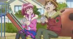 Seiji and Megumi eating sweet potatoes
