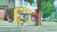 Hime espiando a Megumi y sus amigos