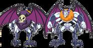 Perfiles de Batty en su forma monstruo