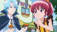 Megumi va a comprar algo de beber