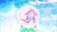 Yamoh siendo purificado por la Reencarnacion Esmeralda Pretty Cure