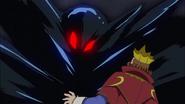 Rey de trump a punto de ser absorbido pr la oscuridad