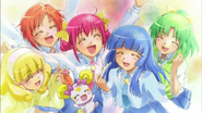 Smile Pretty Cure al final del episodio