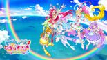 Tropical-Rouge! Pretty Cure sponsor card with the five Cures