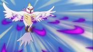 Saiark atacando con plumas