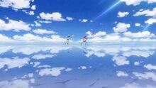 STPC Movie UMA, Lala and Hikaru chase Fuwa