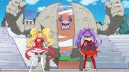 Yokubaru a punto de atacr a las Cures