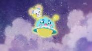 STPC2.30-Prunce y Fuwa siendo enviados a la tierra por las Princesas Estrella
