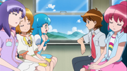 Hime preguntandole a Seiji si esaba viendo a megumi
