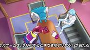Megumi y Hime recibiendo los Cure Line de Blue