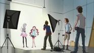 Momoka y Tsubomi en la sesión de fotos