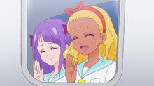 STPC Movie Elena and Madoka wave goodbye