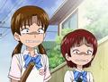 Shiho rina saludan nagisa honoka asustadas
