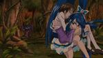 Cure Aqua saves Masuko Mika