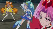 Tres Princesas Cures luchan contra Zetsuborg (GPPC27)