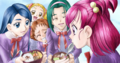 Nozomi seeing the food of her friends