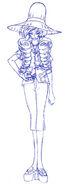 Bocetos de Mizushitatare con atuendo de verano