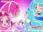 Heartcatch Pretty Cure!! Wallpaper of Blossom and Marine
