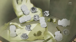 KKPCALM47-Grey Animal Sweets and Crystals in garbage bin