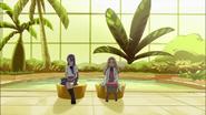Kaoruko hablando con Yuri acerca de su Flor Corazón