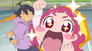HuPC04.27-Hana animando a Homare al ver sus sorprendentes habilidades