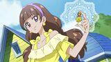 Miracle Go! Princess Pretty Cure Kirara holds her Dress Up Key