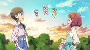 Nyatoran olvida decirle a Hinata de no hablar sobre las Pretty Cure