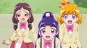 MTPC15 The Cures and Kana surprised at Ha-chan