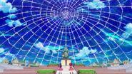 Una gran telaraña encierra a Mirai y Riko