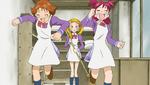 Rin and Nozomi running from Urara