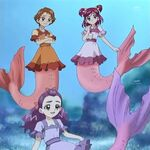 Nozomi and her friends in Mermaid tails.jpg