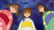 Las admiradoras de Yuuki con yukatas