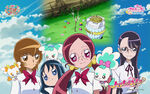 Heartcatch Pretty Cure!! Wallpaper of the four girls