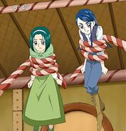 Komachi and Karen trapped in the candy house