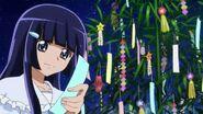 Reika explicando que era el festibal de Tanabata