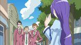 Let's! Fresh Miki waving to Daisuke, Yuuki and Kento