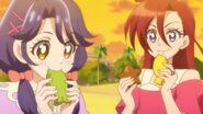 TRPC07 Sango and Asuka eating the food