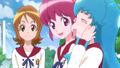 Megumi añadiendo que tambien te hacen feliz (los dulces)
